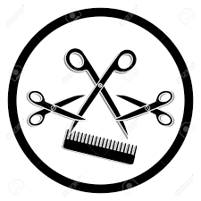 haircut or hair salon symbol royalty free cliparts vectors and