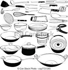 ustensile cuisine équipement outillage ustensile cuisine ensemble vecteurs