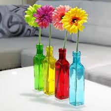 Flowers Glass Vase Aliexpress Com Buy European 4 Color Glass Bottle Flower Vase