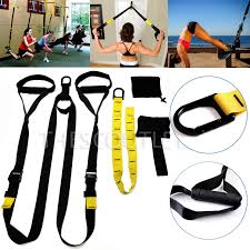 upgraded home gym suspension resistance strength training straps