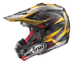 yellow motocross helmet arai vx pro 4 trophy helmet revzilla