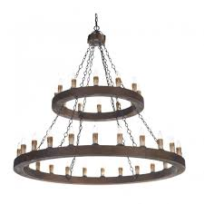 Rustic Candle Chandelier Rustic Candle Chandelier Wooden Finish Frame Double Insulated