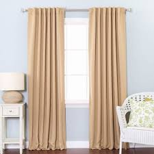 Black Out Curtain Panels Aurora Home Thermal Rod Pocket 96 Inch Blackout Curtain Panel Pair