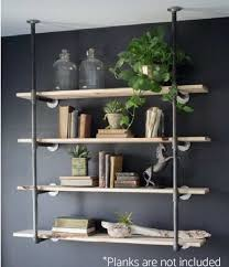 amazon com industrial retro wall mount iron pipe shelf hung