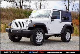 white jeep rubicon 2017 jeep wrangler 4x4 sport 2dr suv in roanoke rapids nc white