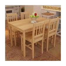 table cuisine en bois superbe table à manger avec 4 chaises en bois naturel achat