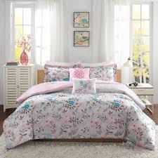 Teen Comforter Set Full Queen by Intelligent Design Lucy Pink Teal 5 Piece Comforter Set Free