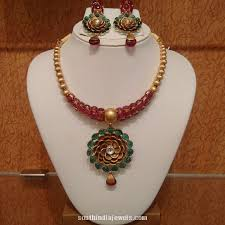 emerald gold necklace jewelry images 22 carat gold designer ruby emerald necklace emerald necklace jpg