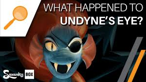 undertale what happened to undyne u0027s eye youtube