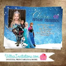 disney frozen birthday invitations party custom personalized