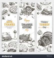 thanksgiving day banners vector hand drawn thanksgiving banners set stock vector 486631459