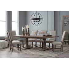Belham Living Kennedy Trestle Extension Dining Table Hayneedle - Dining room tables with extensions