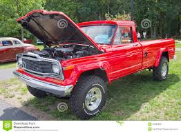 jeep pickup red 1979 jeep pickup truck editorial stock image image 26280009