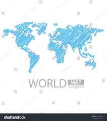World Map Vector Sketch World Map Vector Illustration Stock Vector 148588940