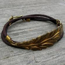 leaf wrap bracelet images Leather wrap bracelets lovepray jewelry jpg