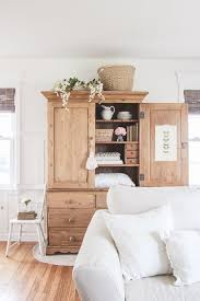 Farmhouse Armoire Best 25 Armoire Decorating Ideas On Pinterest Blue Cupboard