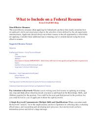 Examples Of Volunteer Work On Resume by What To Include On A Federal Resume Bop