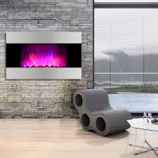 1500w adjustable wall mount electric fireplace heater led 7 color