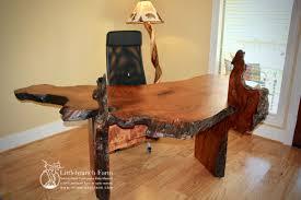 Office Wood Desk Rustic Desk Executive Office Desk Littlebranch Farm