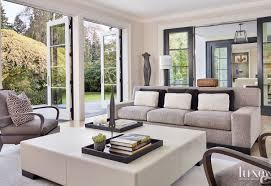 luxury home decor magazines contemporary cream living room with custom blue coffee table