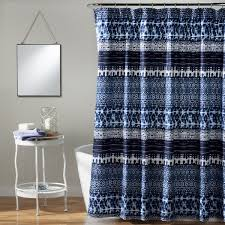 lush decor lambert tie dye navy shower curtain idp lolo br