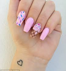 ice cream nail art is taking instagram and pinterest feeds by