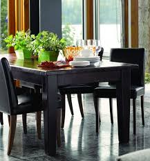 Black And Wood Dining Table Chairs Black Wood Dining Table And - Black wood dining room table