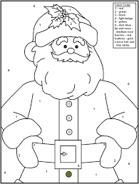 christmas color number free christmas coloring pages kids