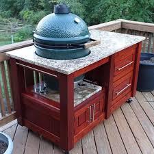 Big Green Egg Table Dimensions How To Make A Timber Garage Door Big Green Egg Table Plans Kreg