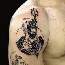 back shoulder tattoos men tattoo neptune sea myth shoulder tattoo tattoo for men blackwork