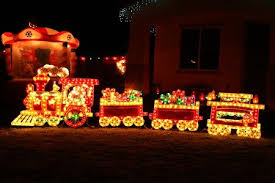Christmas Porch Light Decorations by Christmas Train Set Christmas Outdoor Decorations Pinterest