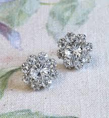 flower stud earrings bessie flower stud earrings by anusha notonthehighstreet