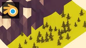 tutorial blender terrain blender tutorial creating low poly terrain trees youtube