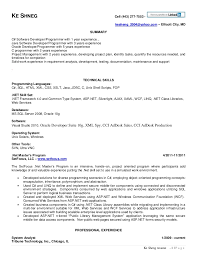resume for software developer net resume ke