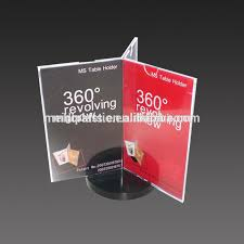 table tent sign holders 360 degree acrylic rotate sign holder 3 sided acrylic rotate table