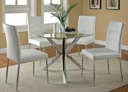 contemporary kitchen clio modern round glass kitchen table set