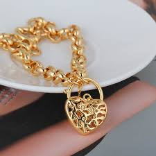 gold bracelet with love heart images Heart bracelets for women jewelry jpg