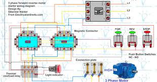 forward motor diagram for 3 phase motor