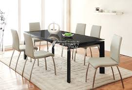 Dining Room Furniture Sydney Oasis Extension Glass Metal Dining Table Sydney Central Furniture