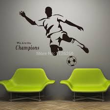 soccer wall sticker football player decal sports decoration mural soccer wall sticker football player decal sports decoration mural for boys kids room decor