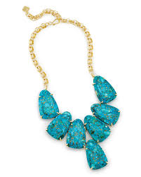 turquoise necklace images Harlow statement necklace in veined turquoise kendra scott jpg