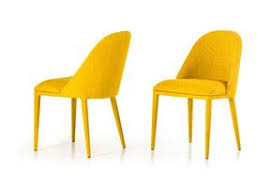 Yellow Dining Chair Upholstered Dining Chairs At Contemporary Furniture Warehouse