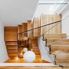 Plywood Stairs Design Contemporary Glass Stair Design And Fitting In Dublin