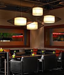 lighting ideas white shade cone pendant lamp in modern restaurant