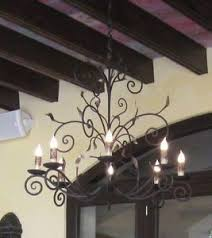 Wrought Iron Chandeliers Mexican Happy Halloween Spooky Spanish Moss And Terrifying Tillandsias
