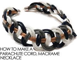 cord macrame bracelet images How to make a parachute cord macrame necklace alonso sobrino png