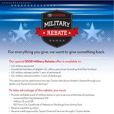 toyota financial madison toyota military rebate united states military purchase