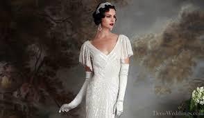 deco wedding dress 1920s makeup deco weddings