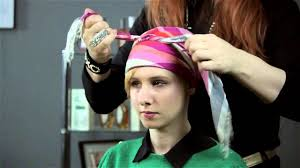 short wraps hairstyle how to tie a silk head scarf short fabulous hair youtube