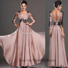 2015 latest designs elegant long sleeve evening dresses black lace